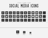 Chalk It Up Series - Social Media Square Icons - use for your blog, website, or portfolio. In multiple sizes!
