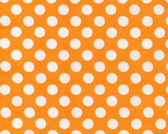Apricot Ta Dot from Michael Miller 1 yard  YES!! Fabric is always cut continuously and shipping is always combined