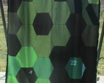 Blanket - Recycled Wool Sweaters - Green Daisy - by FeltSassy
