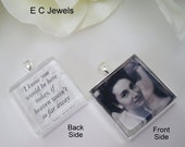 Double Sided Custom Photo Bouquet Charm