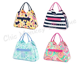 Large Print Beach Bags in 4 Pretty Colors for Bridal Showers, Beach, Summer, Spring Break Gift ...FREE MONOGRAMMING
