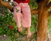 Red Stripe Ticking Pants