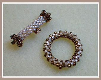 Beaded Peyote Toggle PDF Jewelry Making Tutorial (INSTANT DOWNLOAD)