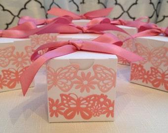 Favor Box Birthday Favor - Pink 2x2 box Qty 16