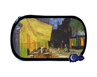 Cafe Terrace at Night by Van Gogh Cosmetic Bag