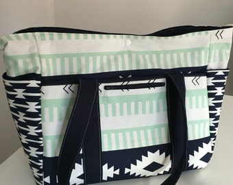 Art Gallery Arizona Nappy Bag and Long Strap with new front pocket