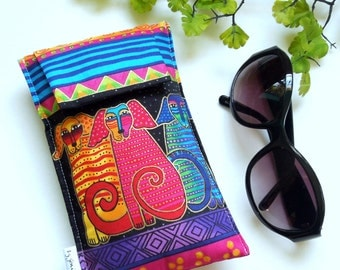 Laurel Burch Design in a Roomy Sunglasses Case