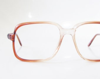 Vintage 1970s Boxy Eyeglasses Mens Guys Geek Chic Nerdy 70s Oversized Indie Hipster Chic Seventies Deadstock Brand New Sunnies