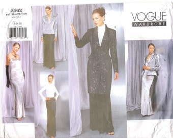 Vogue 2362 UNCUT Wardrobe Long Jacket, Dress, Blouse and Skirt Sewing Pattern Steampunk