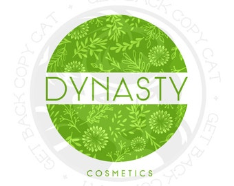 Premade Flower Logo Design OOAK (Buy and Customize This Exact Design) NEVER Sold Twice!