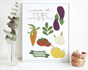 Eat More Veggies, Choose Your Own Colors, Change the Vegetables