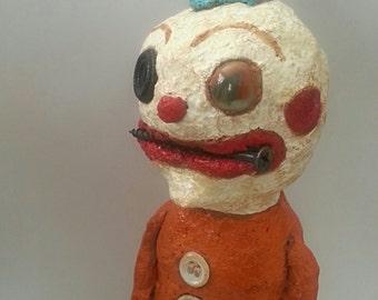 Lost Your Marbles Primitive Folk Art Clown Art Doll
