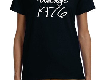 ladies vintage 1976 40th birthday shirt great gift, Avaiable with ANY year