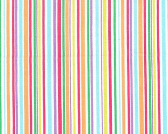 Michael Miller Fabric Slender Stripe color Brite, Choose your cut