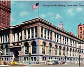 Vintage Chicago Postcard - Chicago Public Library (Unused)