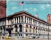 Vintage Chicago Postcard - Chicago Public Library (Unused)