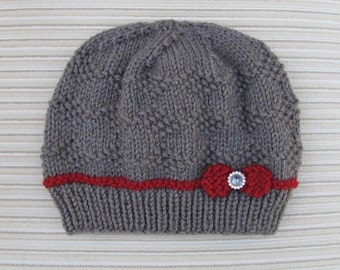 """Instant Download #217 Knitting Pattern Hat """"Ksenia"""" for a Lady"""