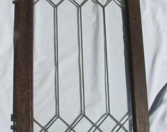 Antique Lead Glass Window Door with Hinges