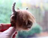 Needle felted Highland Cow head trophy/plaque