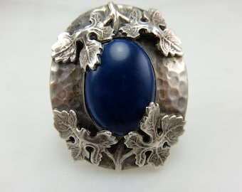 20% off Sale: Originally 675.00.  Circa 1910.  Arts and Crafts Era Sterling Silver Ring