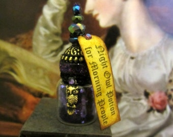 Night Owl Potion for Morning People dollhouse miniature, potion bottle in 1/12 scale