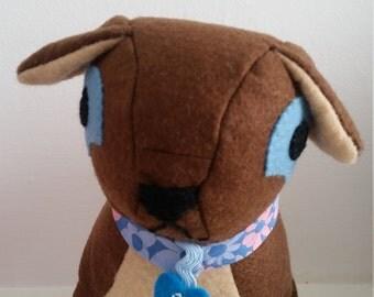 Felt Percy Pug Toy
