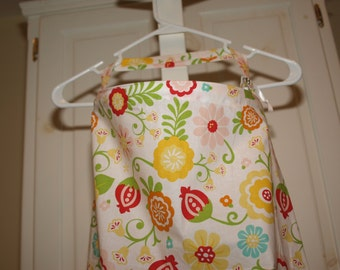 Large Nursing Cover Simply Sweet in White by Riley Blake Breastfeeding Cover floral Ready to ship Yellow