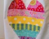 Girls Size 7 Yrs Nightgown Rainbow Heart Summer Cotton Puffed Sleeves Cotton Girls  Light Weight Cotton betrueoriginals