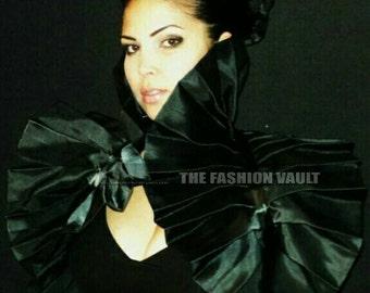 Harley Quinn Costume Wedding Gothic High Black Widow Dramatic Bolero Shrug Cosplay