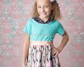RTS- Girls Perfect Plume Hooded Knit Dress- by Mellon Monkeys