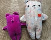 Sprinkle the handmade teddy bear, stuffed toy bear, bear plushie, bear soft toy, bear stuffie, handmade pocket bear, miniature bear doll