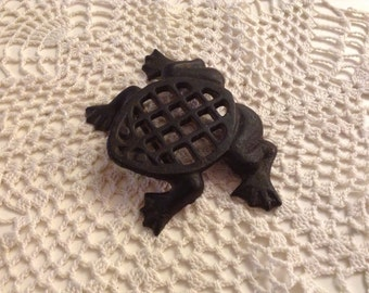 Vintage Metal Frog Trivet for Your Table or to Hang on Your Wall