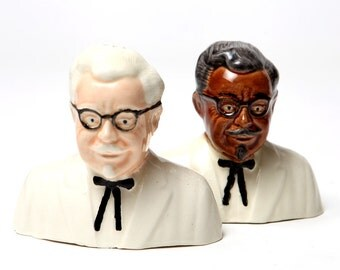 Colonel Saunders Salt and Pepper Shakers Multi Cultural Edition