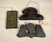 German Wax Ornaments & Mold * St. Nick * Angel * ornaments