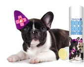French Bulldog Boo Boo Butter Handcrafted All Natural Herbal Balm for Your Dog's Discomforts .50 oz Tube with Frenchie Trio Label