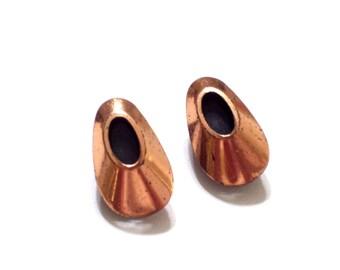 Renoir Earrings, Vintage RENOIR Copper Enamel HONEYBEAR Clip Earrings, Vintage Copper Earrings, Bear Paw Earrings, Modernist Copper