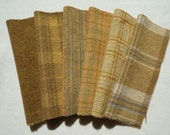 Primitive - Gold Hand Felted Wool Fabrics - 100% Wool - Rug Hooking, Quilting, Wool Applique, and Sewing by Quilting Acres
