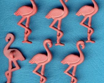 SALMON PINK FLAMINGO - Peach Bird Zoo Safari Animal Dress It Up Craft Buttons