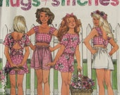 Simplicity 7774 Girls Uncut Sewing Pattern Shorts and Tops Size 7-10 Summer Clothing Chest 26-28.5, 1996