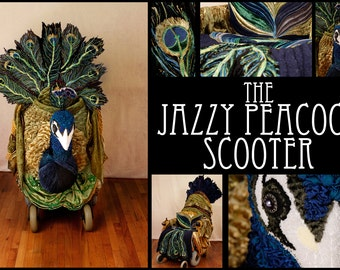 The Jazzy Peacock Scooter 8 x 10 photographic print