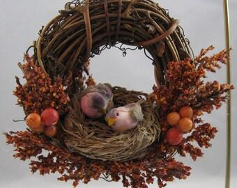 Birds in a Nest Christmas Ornament 410