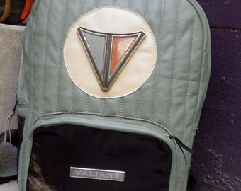 Plymouth Valiant Backpack With Vintage Automobile Chrome Emblems