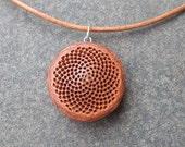 Sacred geometry - Mandala jewelry - botanical Protea necklace -  natural Fibonnacy sequence jewelry handmade in Australia