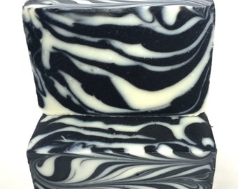 SALE- ZEBRA (activated charcoal)