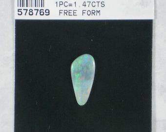 1 Jelly Opal Cabochon Free form Teardrop 17mm x 8mm Aqua Blue Australian 1.47cts (578769)