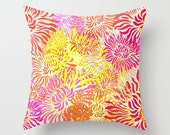 Throw Pillow Bright Colorful Summer Spring Floral Flower Pattern Graphic Design Pillow Cover Bedroom Decor Couch Living Room Home Decor