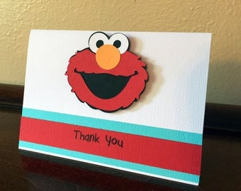 Elmo Party Thank You Cards, Elmo Birthday Party, Elmo Thank You Cards, Elmo 1st Birthday, Sesame Street Thank You Card, Elmo Card, Set of 10