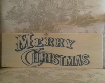"""Victorian """"Merry Christmas"""" sign"""