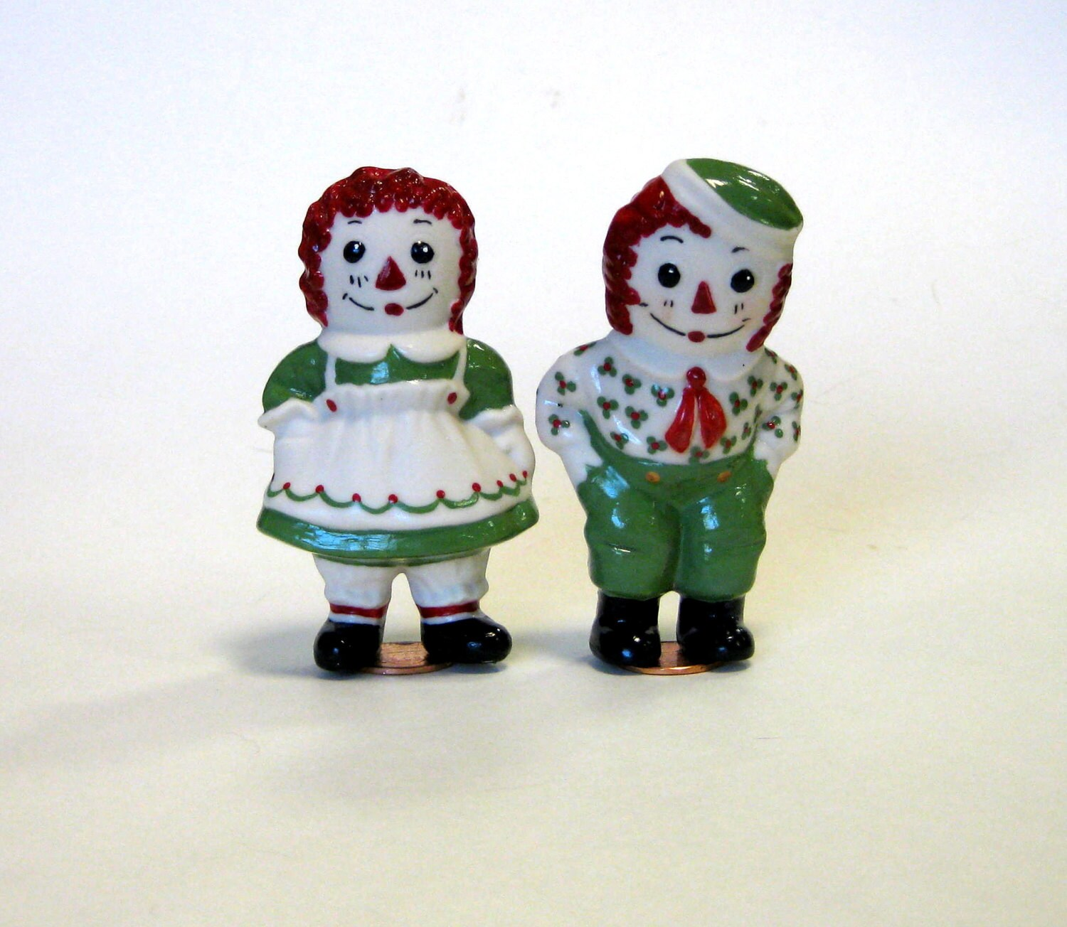 Doll 3 Raggedy Ann Amp Andy Handcrafted Porcelain Penny