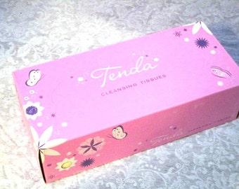 Vintage New Old Stock Deadstock Tenda Facial Tissues Pink Unopened Box Advertising Prop USA Pinkalicious Boudoir Vanity, Bridal